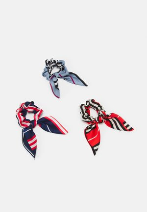 PCCICCIO 3-PACK BOW SCRUNCHIE - Accessori capelli - cherry tomato/navy