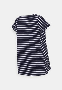 JoJo Maman Bébé - BOYFRIEND - Print T-shirt - navy/white - 1