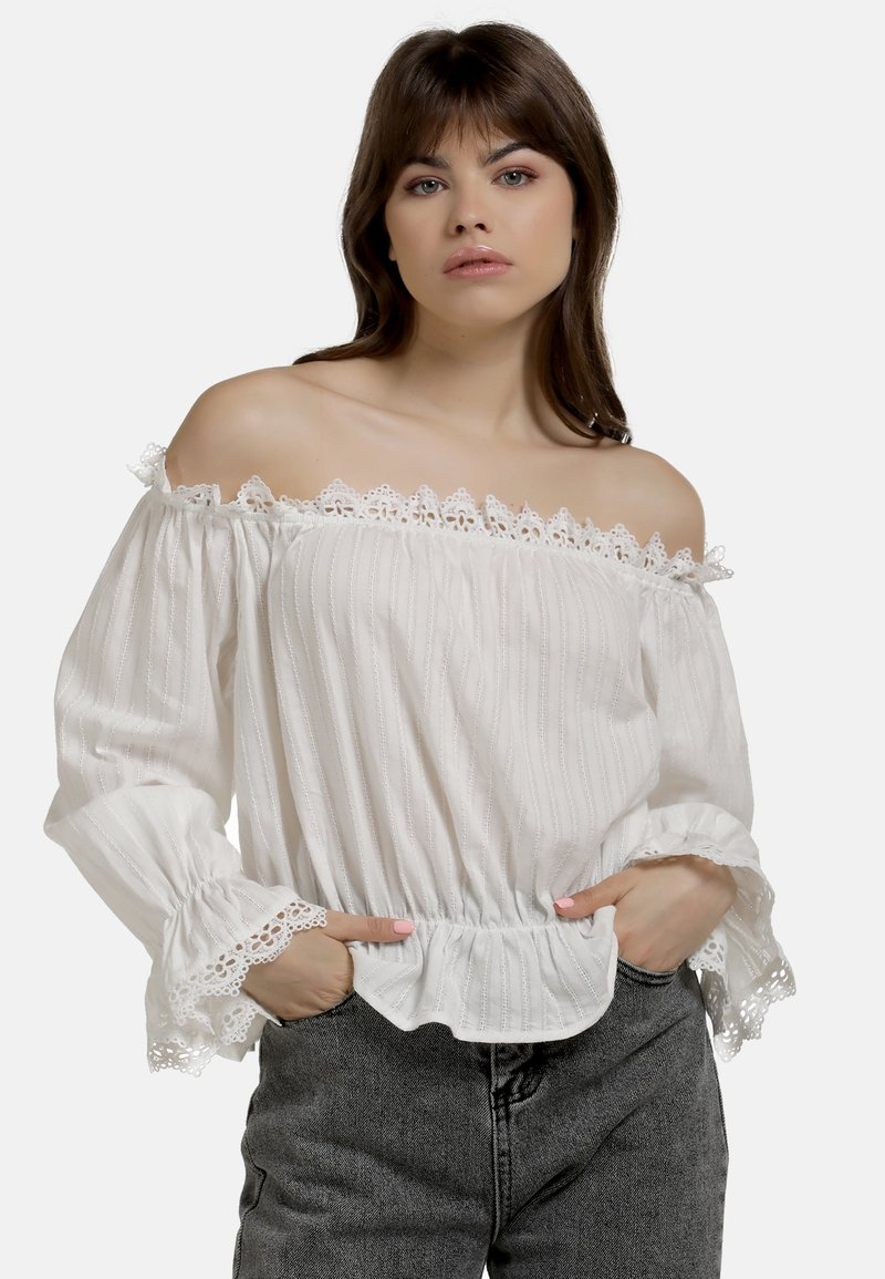 myMo - BLUSE - Blouse - weiss