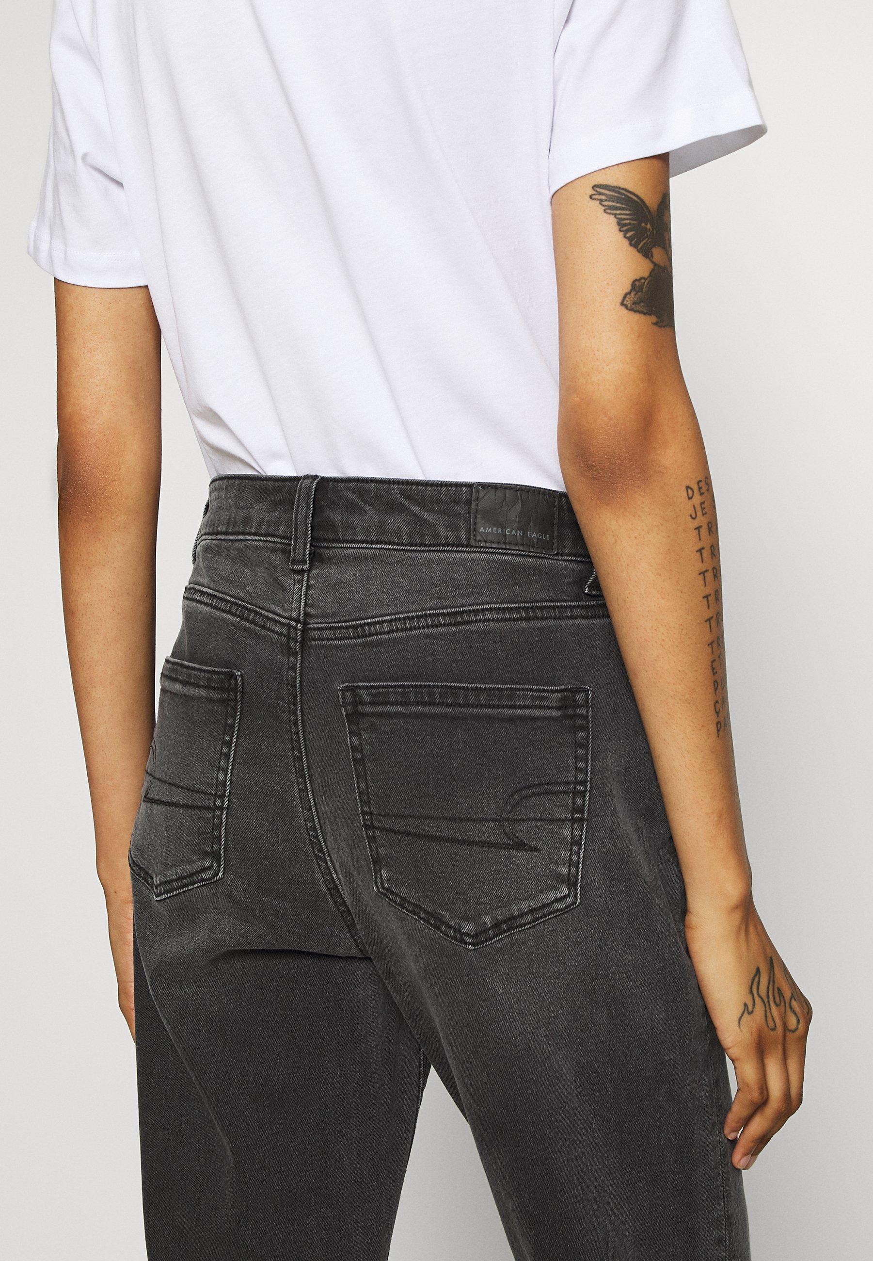 American Eagle Mom - Jeans Slim Fit Washed Black/svart