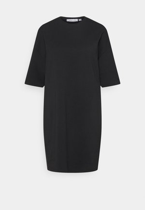 ORGANIC GLOBE OVERSIZED DRESS - Day dress - black