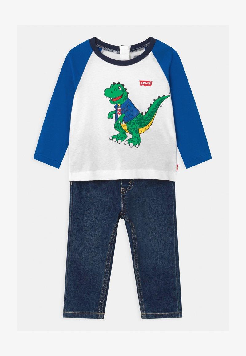 Levi's® - RAGLANSET - Straight leg jeans - blue/white