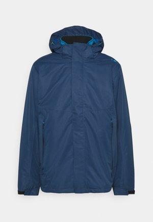MAN JACKET ZIP HOOD  - Hardshell jacket - blue ink