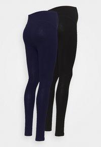 Anna Field MAMA - 2 PACK - Legginsy - dark blue/black - 1