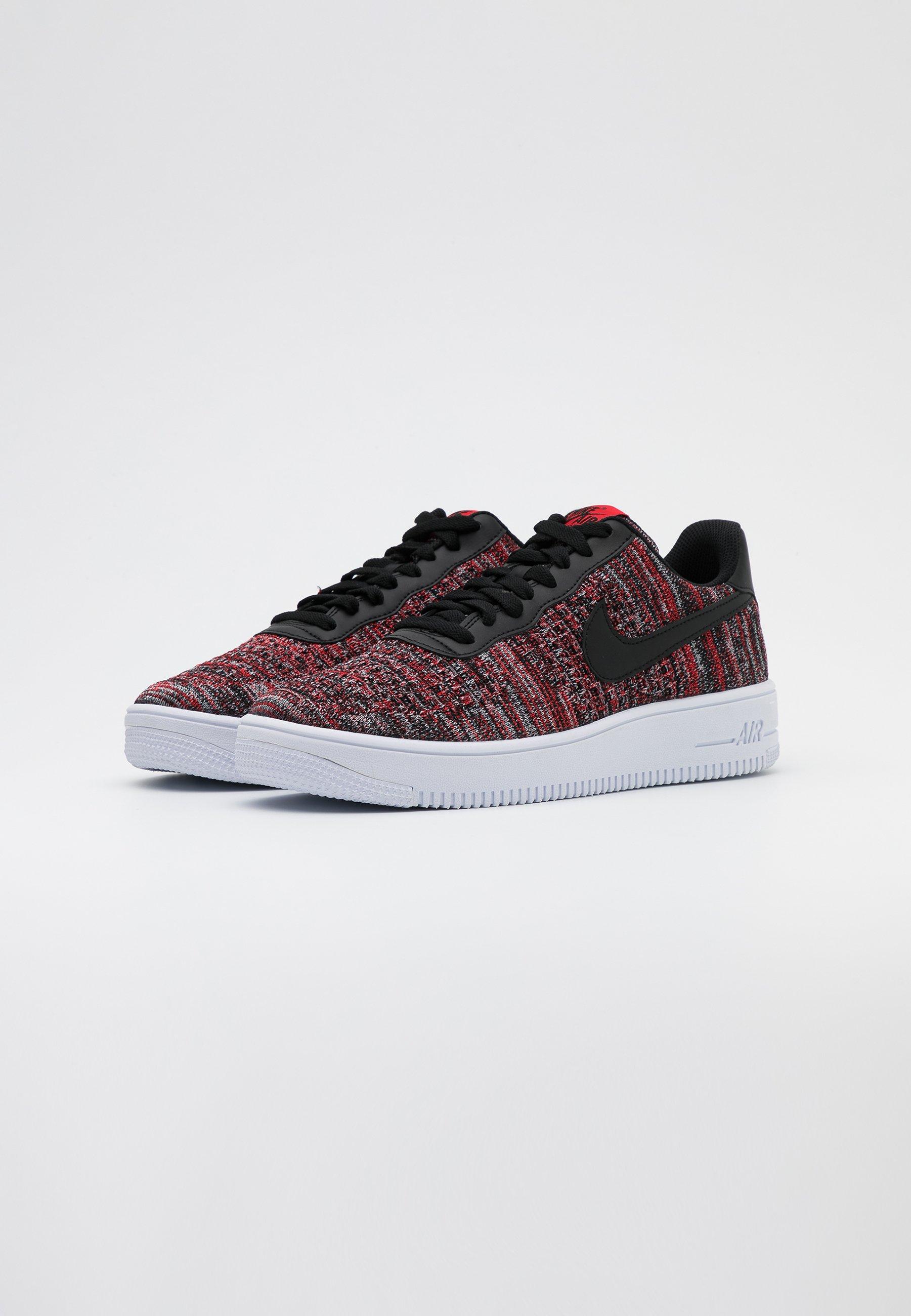 AIR FORCE FLYKNIT Sneakers university redblackwolf greywhite