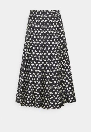 PLEATED SKIRT - Áčková sukně - black/cream