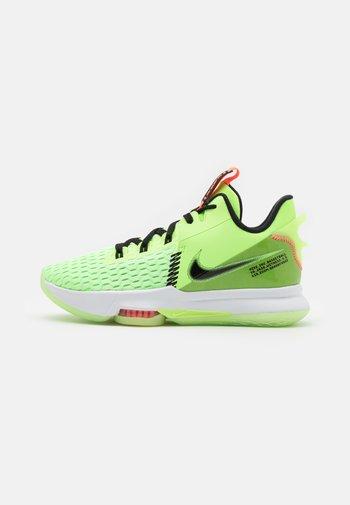 LEBRON WITNESS 5 - Basketball shoes - lime glow/black/bright mango/white
