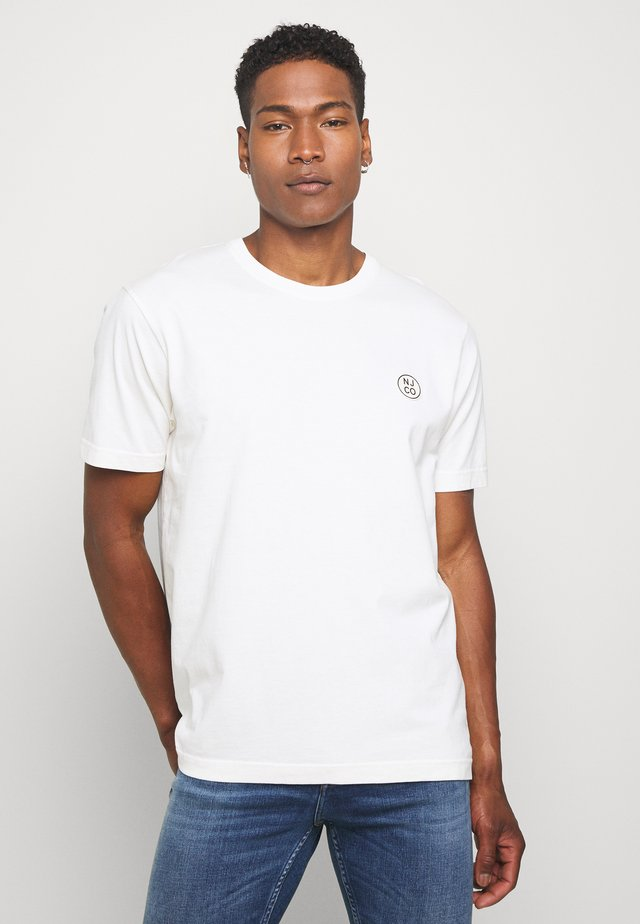 UNO - T-shirt basic - dusty white