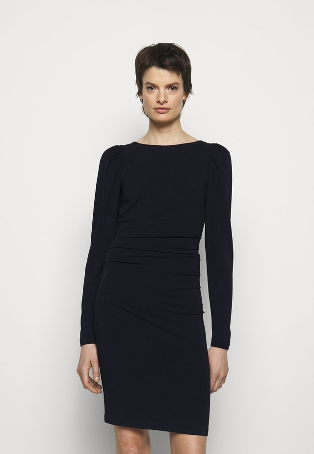 STRETCH SLEEVE DRESS - Vestito di maglina - black