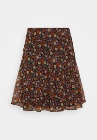 Scotch & Soda - SHORTER LENGTH PRINTED SKIRT - A-line skirt - metallic red - 0
