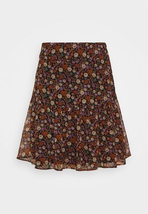 SHORTER LENGTH PRINTED SKIRT - A-lijn rok - metallic red