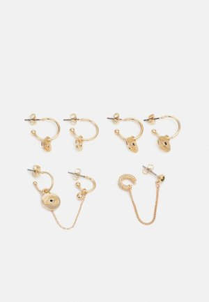 PCDAME EARRINGS 4 PACK - Earrings - gold-coloured