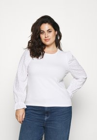 Pieces Curve - PCLIZZIE - Long sleeved top - bright white - 0