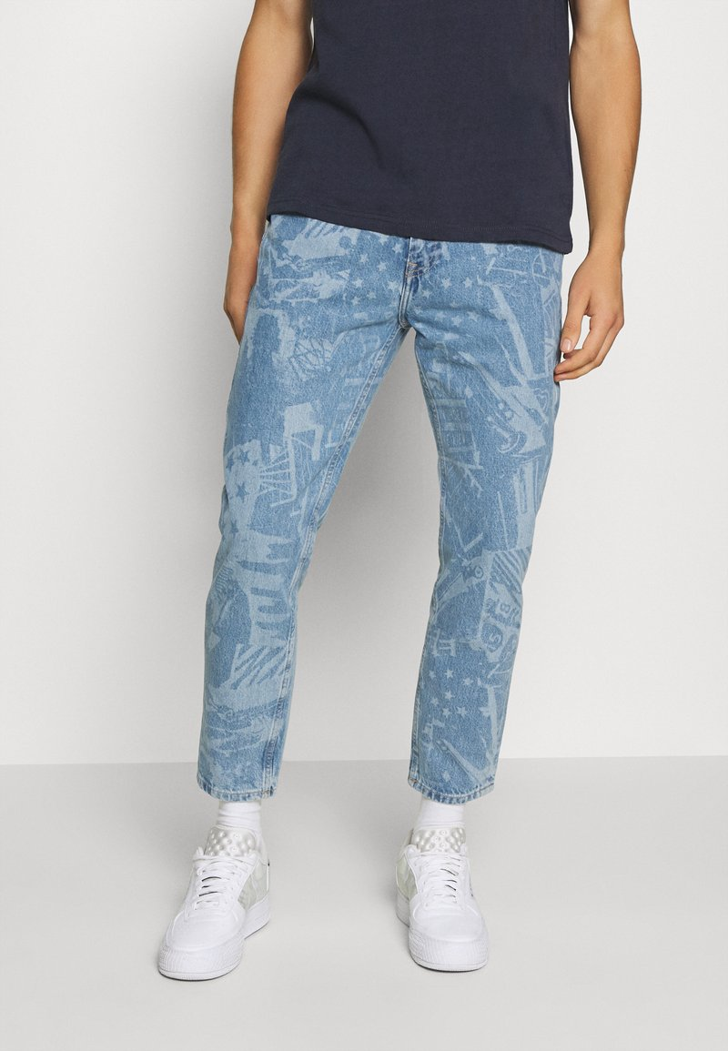 Tommy Jeans - DAD JEAN STRAIGHT - Straight leg jeans - laser light blue rigid