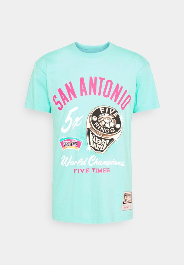 NBA SAN ANTONIO SPURS RINGS TEE - Article de supporter - teal