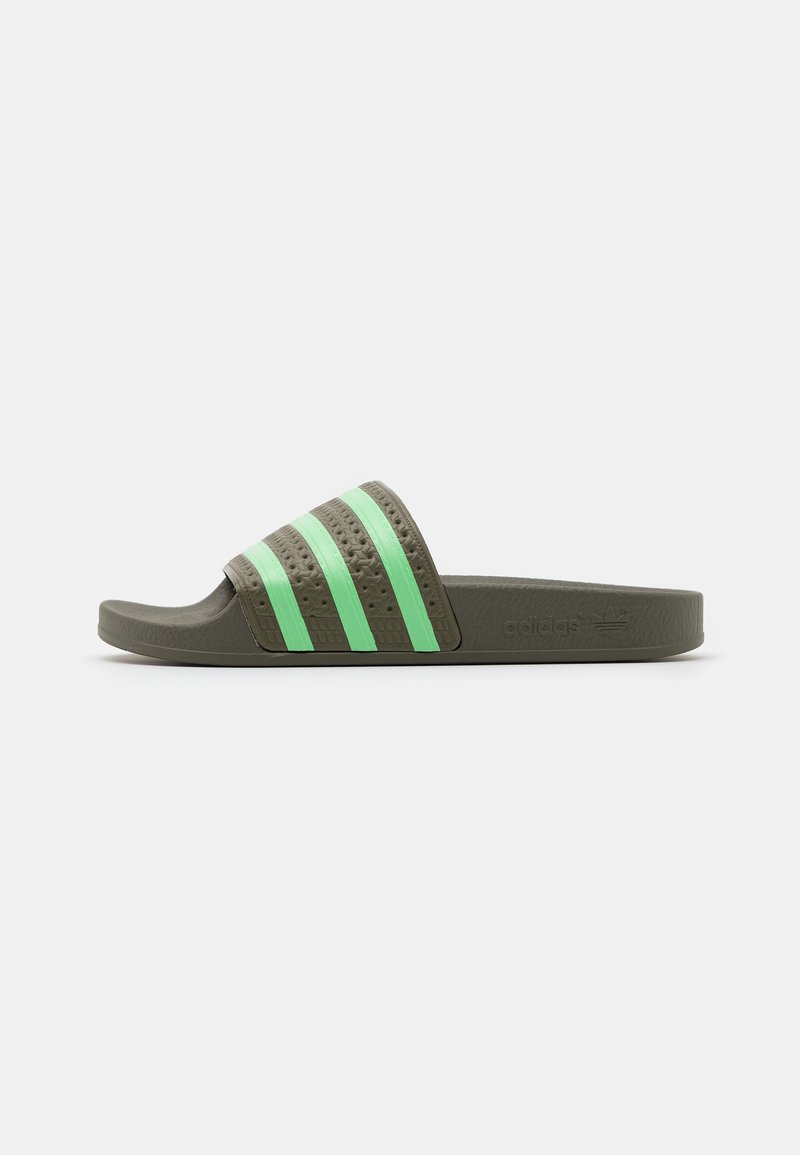 adidas Originals - ADILETTE UNISEX - Matalakantaiset pistokkaat - legacy green/glory mint