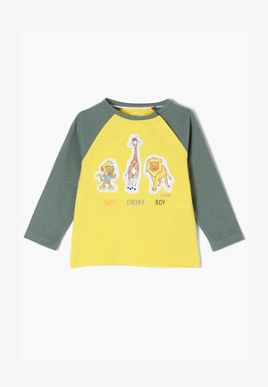 MIT TIER-APPLIKATION - Long sleeved top - yellow