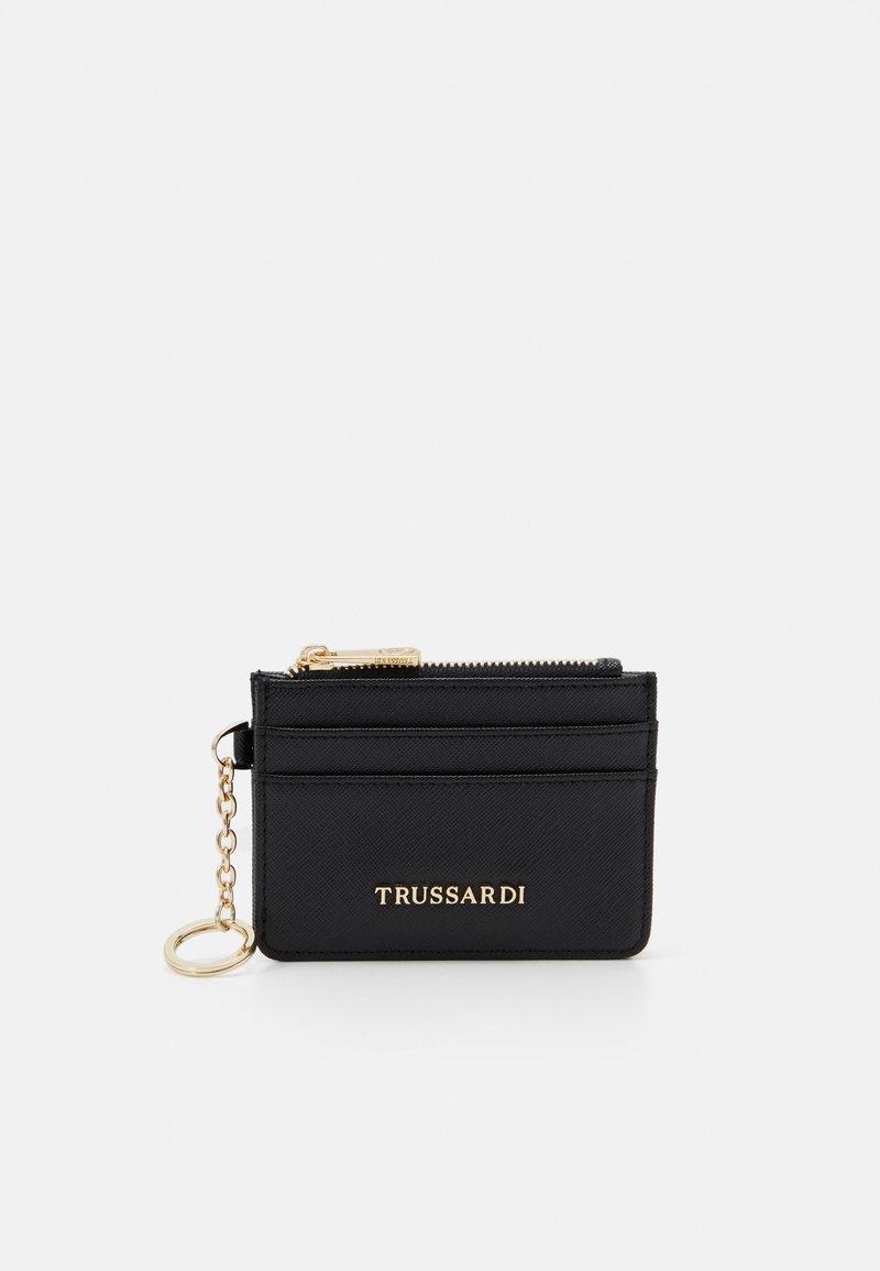Trussardi - LOGO CARD HOLDER - Wallet - black