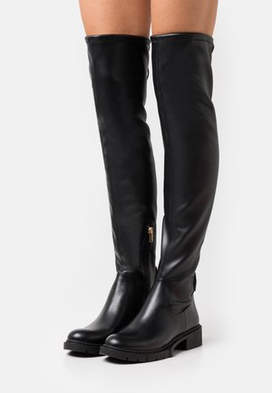 LIZZIE BOOT - Ylipolvensaappaat - black