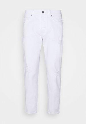 AVI BEAM LIFE CROP - Jeans baggy - white denim