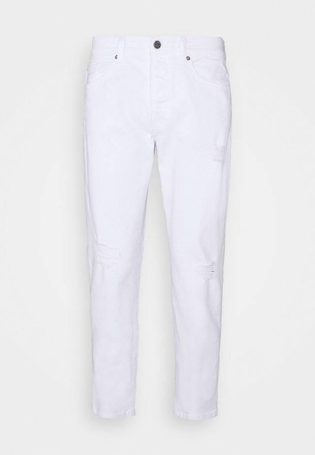 AVI BEAM LIFE CROP - Jeansy Relaxed Fit - white denim