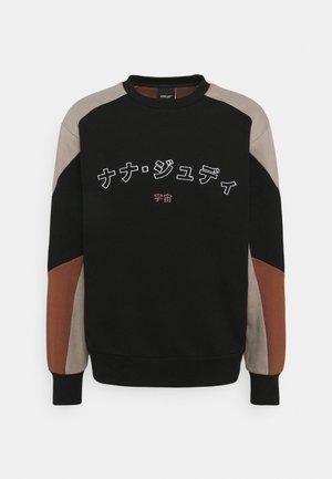 MONTCLAIR - Sweatshirt - black/caramel/smoke