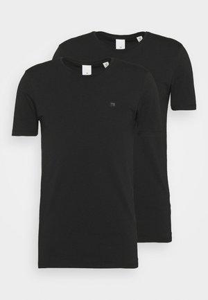 LOGO TEE 2 PACK - T-shirt - bas - black