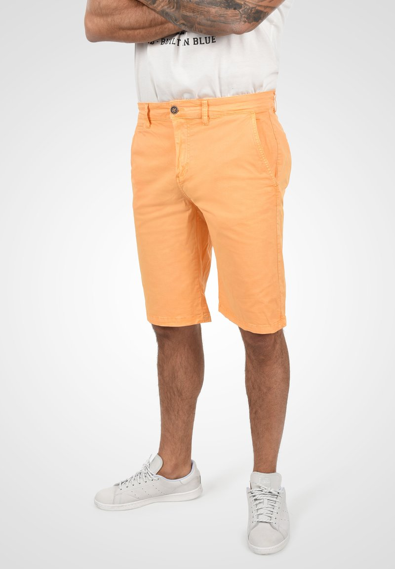 Solid - RON - Denim shorts - orange chi