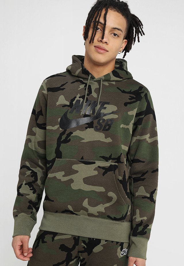 HOODIE ICON - Jersey con capucha - medium olive/black