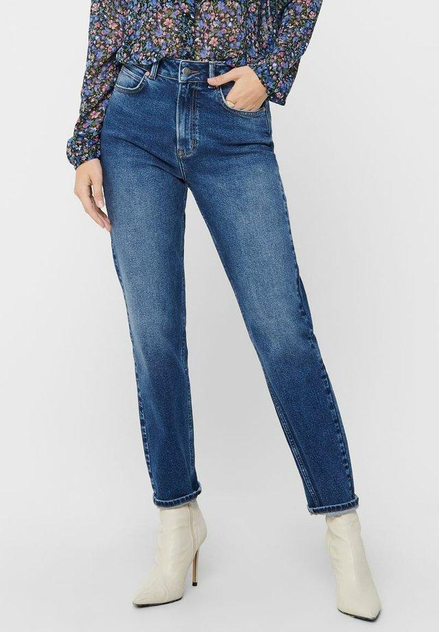 KAJA LIFE HW ANKLE - Jeans slim fit - dark blue denim