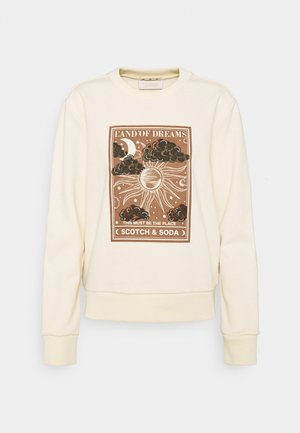 CREWNECK WITH GRAPHIC - Sweatshirt - ecru