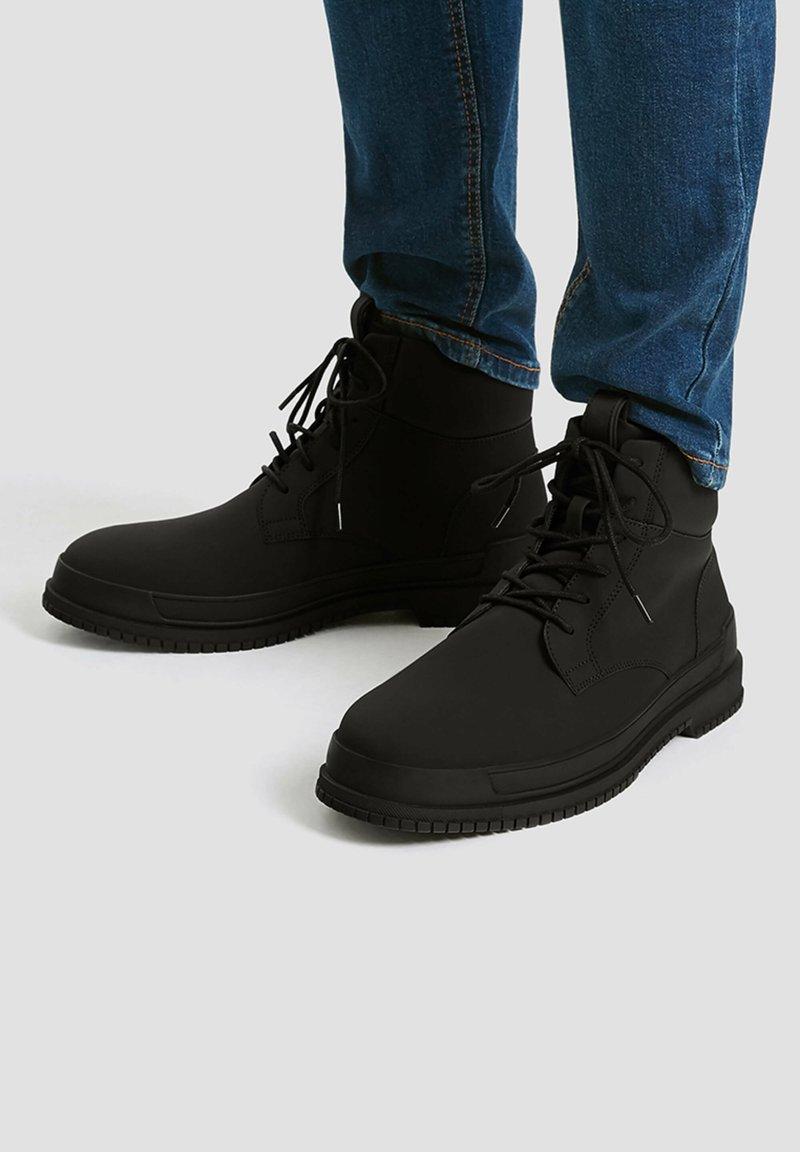 PULL&BEAR - Platform ankle boots - black