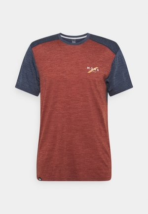VAPOUR - T-Shirt print - navy/chocolate