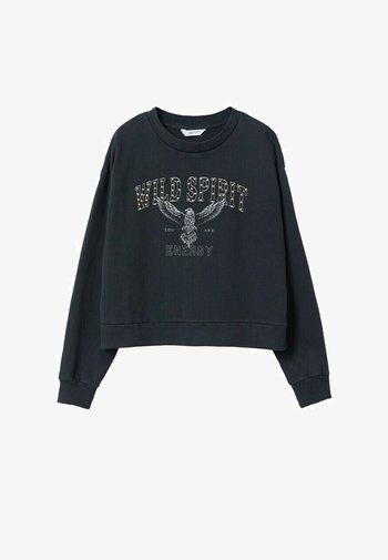 MET BOODSCHAP - Sweatshirt - antraciet