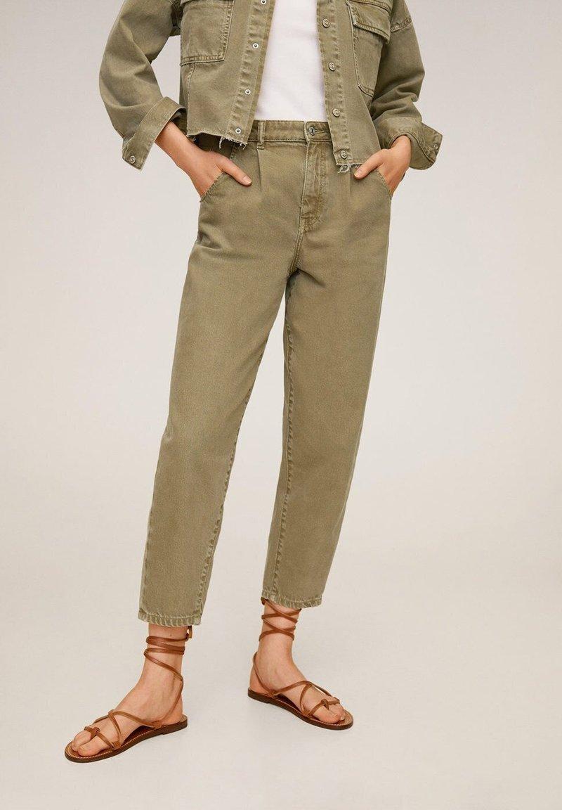 Mango - REGINA - Straight leg jeans - khaki