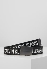 Calvin Klein Jeans - LOGO TAPE PLAQUE BELT - Riem - black - 0