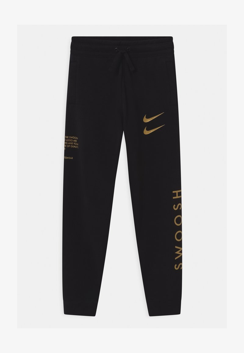 Nike Sportswear - Tracksuit bottoms - black/gold