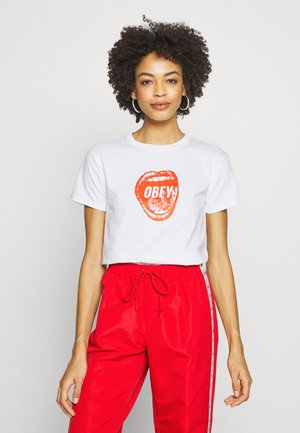 SCREAMIN LIPS - T-shirt z nadrukiem - white