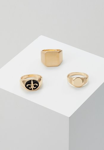 SIGNET 3 PACK - Ring - gold-coloured