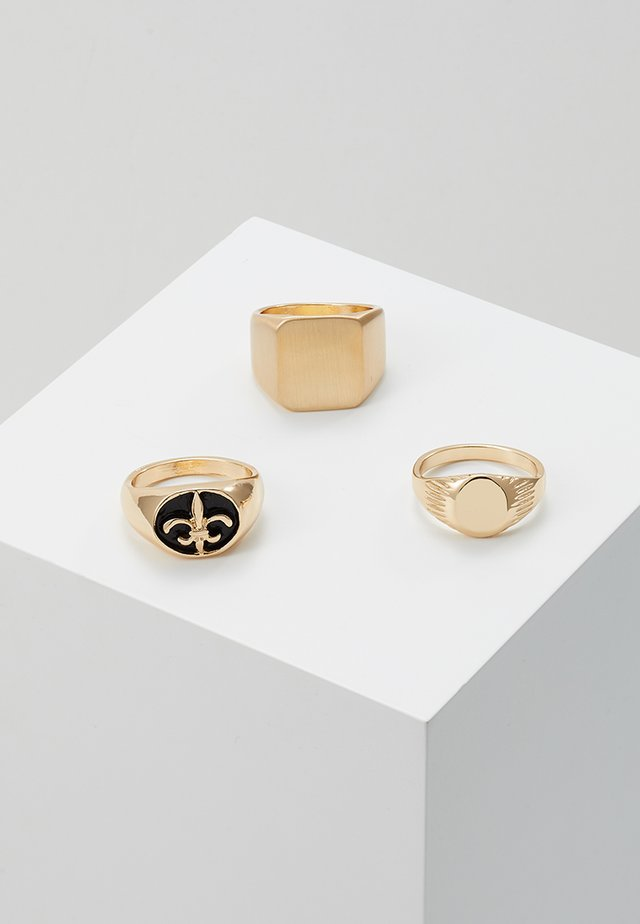SIGNET 3 PACK - Anillo - gold-coloured