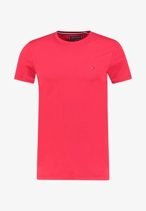 SLIM FIT TEE - Print T-shirt - coral