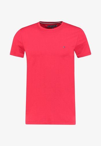 STRETCH SLIM FIT TEE - T-shirt - bas - coral