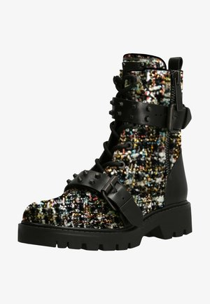 Lace-up ankle boots - gemustert multicolor