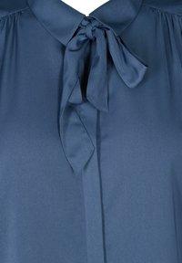 Zizzi - MIT BINDEDETAIL - Button-down blouse - dark blue - 5