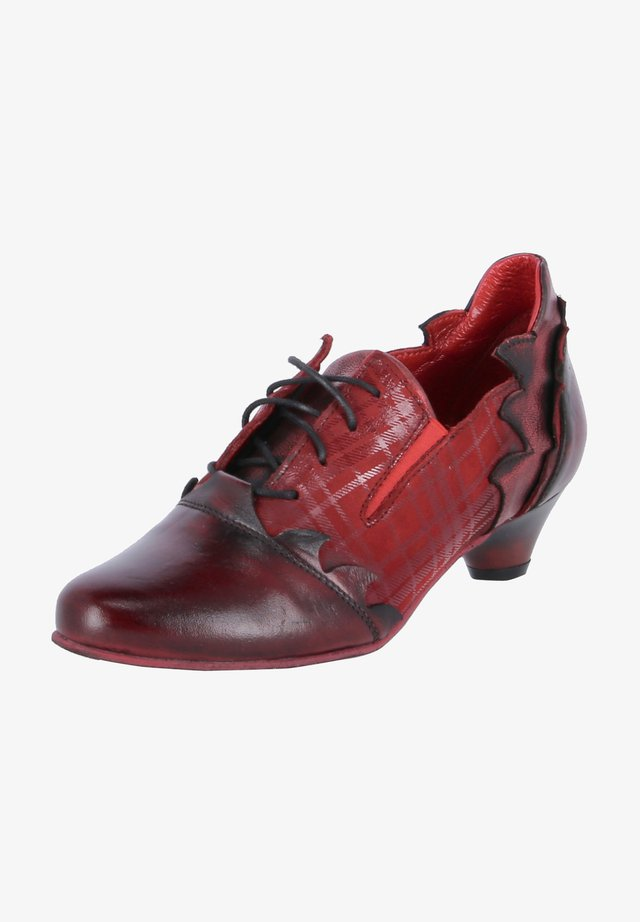 Lace-up heels - dunkelrot