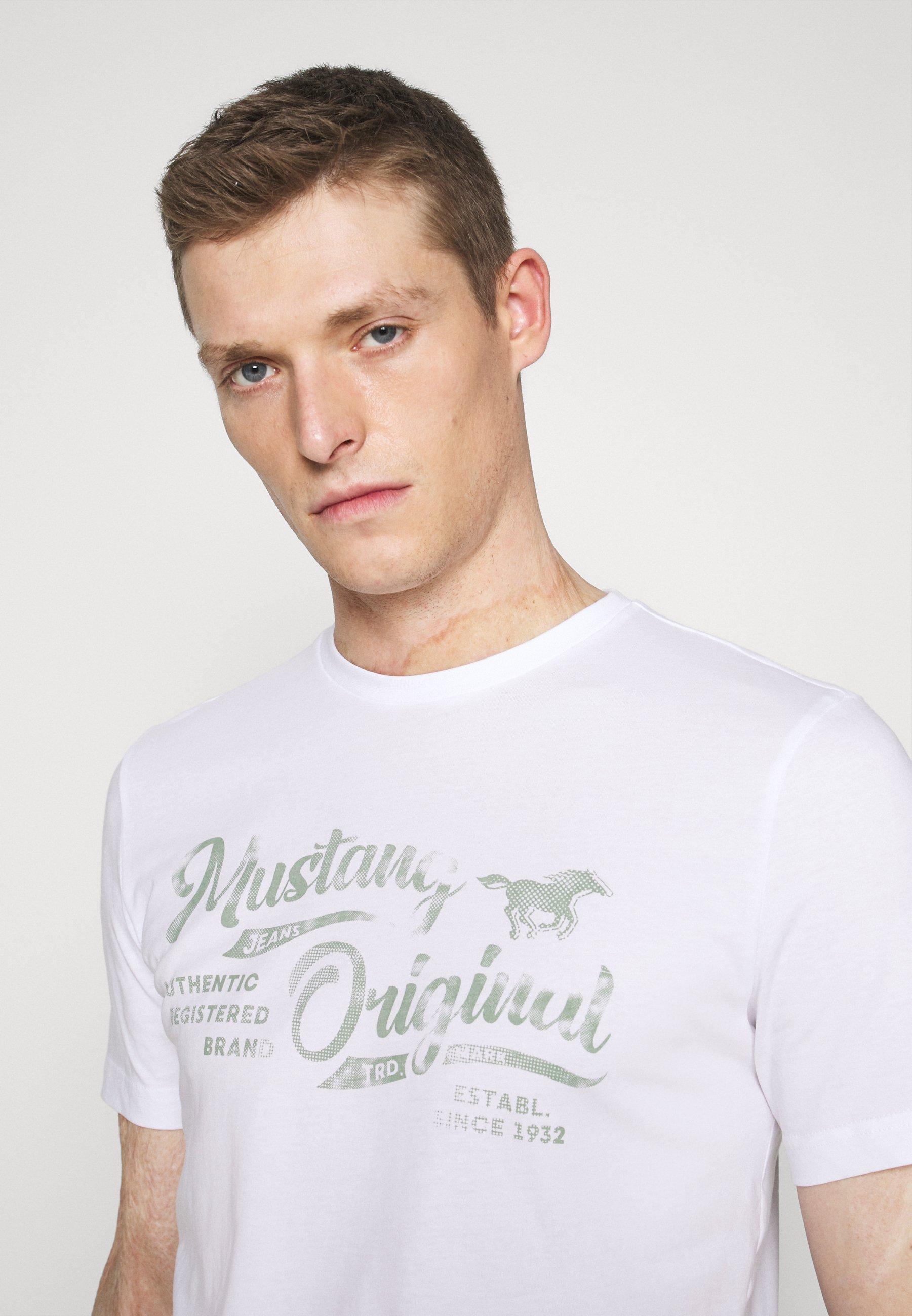 Mustang ALEX - Print T-shirt - white iLCsI