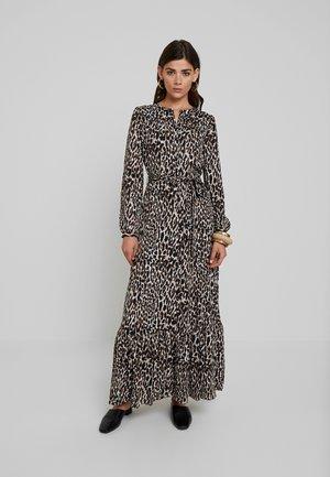 BUTTON DOWN ANIMAL - Maxi šaty - brown