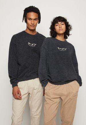 CREW WASHED ISIS UNISEX - Sweater - black