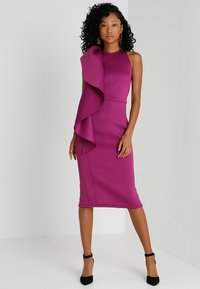 True Violet - WOW SIDE FRILL BODYCON - Cocktail dress / Party dress - purple - 1