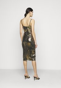 Missguided Tall - STRAPPY MIDI DRESS - Cocktail dress / Party dress - gold - 2